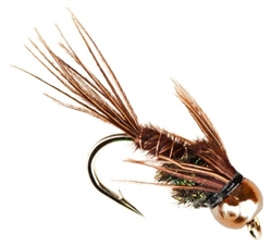 NYMPH HEAD TUNGSTEN BH PHEASANT TAIL BROWN