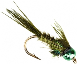 NYMPH HEAD TUNGSTEN BH PHEASANT TAIL OLIVE - SIZE 16
