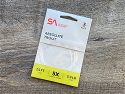 SA ABSOLUTE TROUT LEADER 7.5FT - 3 PACK