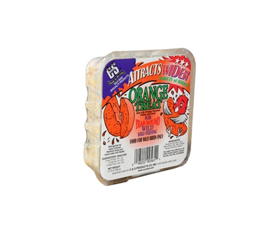 C and S Orange Treat Wild Bird Suet