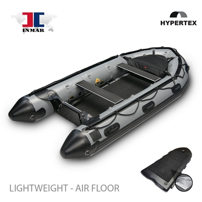 INMAR grey patrol inflatable boat with air floor, durable and versatile.