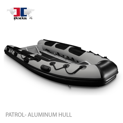 "420R-PT (13'6"") Patrol series (Rigid Aluminum Hull) Inflatable Boat (Open Rib)"
