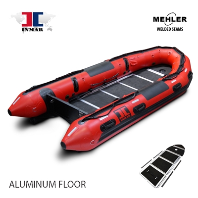INMAR-430-SR-HD-ST aluminum floor Patrol, search & rescue Series Inflatable Boat Welded Seams