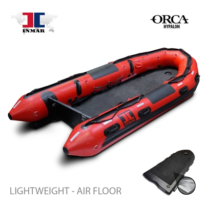 INMAR-430-SR-L-HYP rapid deploy floor-Military-Patrol-Search-Series-Inflatable-Boat-Hypalon