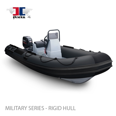 "470R-MIL (15'6"") Patrol Series (Rigid Hull) Inflatable Boat w/ Suzuki 60hp"
