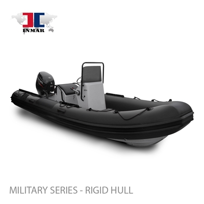 "520R-MIL (17'6"") Military Series (Rigid Hull) Inflatable Boat w/ Suzuki 70hp"
