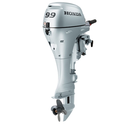 "Honda 9.9 hp, BF10D3SH, 4 stroke, 15"", Manual start, Tiller Handle"