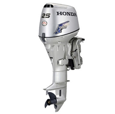 "Honda 25 hp, BF25D3LRT, 4 stroke, 20"", Electric start, Tiller Handle, Pop Included, Power Tilt & Trim"