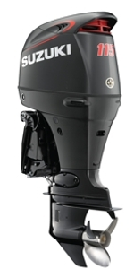 "Suzuki 115hp DF115ATXSS, 4-stroke, 25"" Long Shaft - Electric Start - Remote Steering"