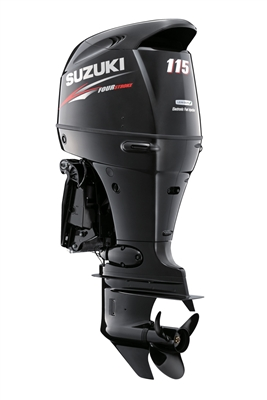 "Suzuki 115hp DF115ATXZW, 4-stroke, 25"" Extra Long Shaft - Electric Start - Remote Steering - Counter Rotation"