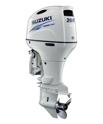 "Suzuki 200hp DF200APLW, 4-stroke, 20"" Long Shaft - Electric Start - Remote Steering - Select Rotation - PTT"