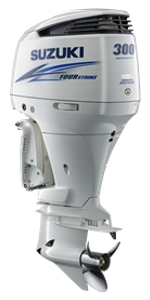 "Suzuki 300hp DF300APXW, 4-stroke, 25"" Extra Long Shaft - Electric Start - Remote Steering - Select Rotation - PTT"