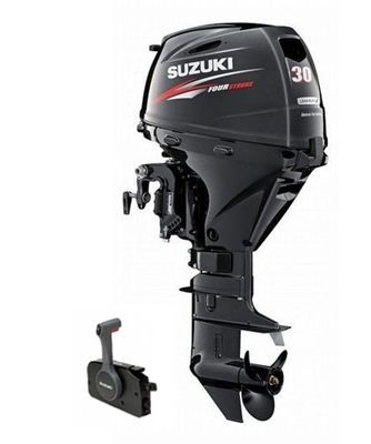 "Suzuki 30hp DF30ATL, 4-stroke, 20"" Long Shaft - Electric Start - Remote Steering - Power Trim and Tilt"