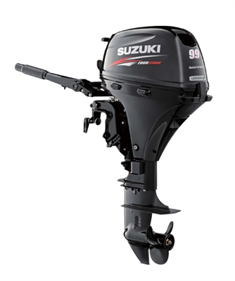 "Suzuki DF9.9BTHS, 4-stroke 9.9hp, Tiller handle, Manual Start, 15""  Shaft"