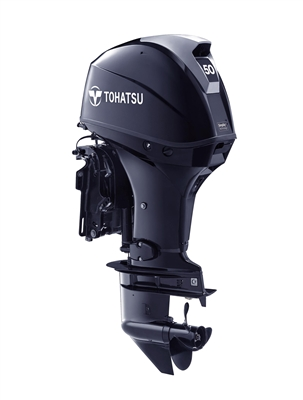 "50 hp Tohatsu MFS50AETL Four-Stroke, 20"" Shaft - Electric Start - Tiller or Remote - Power Trim & Tilt"