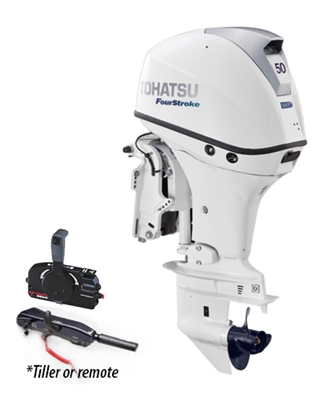 "50 hp Tohatsu MFS50AWETL Four-Stroke, 20"" Shaft - Electric Start - Tiller or Remote - Power Trim & Tilt"