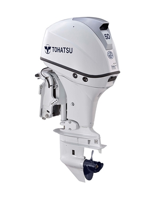 "50 hp Tohatsu MFS50AWETS Four-Stroke, 15"" Shaft - Electric Start - Tiller or Remote - Power Trim & Tilt"