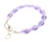 The purple pastel hearts and matching swarovski crystals are perfect for any sweetheart.
