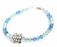 "Lucky Turtle Bracelet ""Sea foam"""