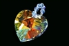 28mm heart charm AB made with swarovski crystal