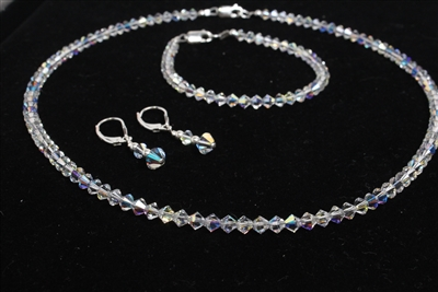 """Classic Sparkle"" Swarovski 3 pc set."