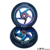 110mm Neo-Chrome / Black Pro Scooter Wheels LUFA