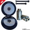 LUFA Polish Pro Scooter Wheel KIT (2 Wheels, 2 Pegs)