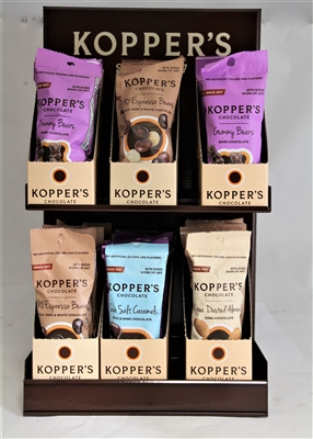 Chocolate Covered Espresso Beans 2 oz Bags Free Display
