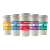 COLORFUL COMMUNITY COFFEE CUP SLEEVES