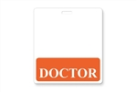 """Doctor"" Horizontal Badge Buddies, Orange"