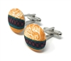 GRACE 100% SILK HANDMADE CUFFLINKS CL-119A