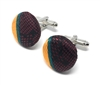 GRACE 100% SILK HANDMADE CUFFLINKS CL-119A2