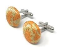 PEACE 100% SILK HANDMADE CUFFLINKS CL-114