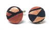 SUNBURST 100% SILK HANDMADE CUFFLINKS CL-122B