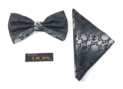 "Gye Nyame - ""Power"" Tied Bow Tie With Hanky DC239ATBT"