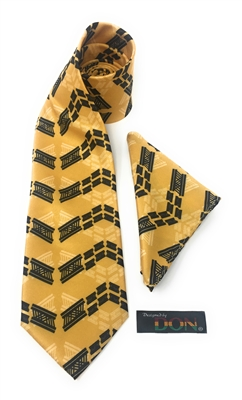 ")W) Foro Adobe - ""Perseverance"" Tie Set With Hanky DC242A"