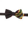 Kente (Dignity) Pre-Tied Bow Tie Set With Matching Hanky DD101PTBT5