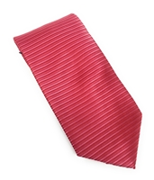 Raspberry & Pink Silk Horizontal Striped Neck Tie Set DHS98