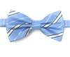 Sky Blue & Navy Regal Pre-Tie Bow Tie Set - Includes Matching Pocket Square DPTBT430