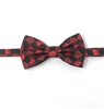 Burgundy & Abstract Diamond Pre-Tie Bow Tie Set - Includes Matching Pocket Square DPTBT465