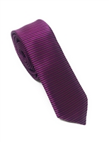 Soft Purple Horizontal Striped Skinny Silk Tie (Tie Only) DSKT077
