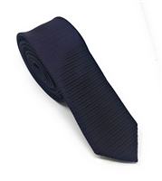 Purple, Black & Berry Horizontal Striped Skinny Silk Tie (Tie Only) DSKT079