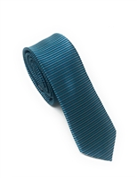 Light Teal Green, Dark Mint Green Horizontal Striped Skinny Silk Tie (Tie Only) DSKT085