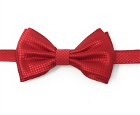 Red Waffle Pre-Tied Bow Tie Set With Hanky DWBT14