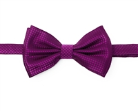 Violet Waffle Pre-Tied Bow Tie Set - Includes Matching Hanky DWBT18