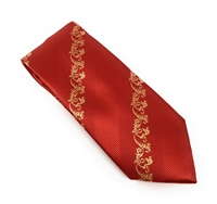 Red & Gold Silk Neck Tie Set MLT137