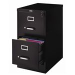 2-Drawer Vertical Filing File Cabinet with Lock in Black Metal
