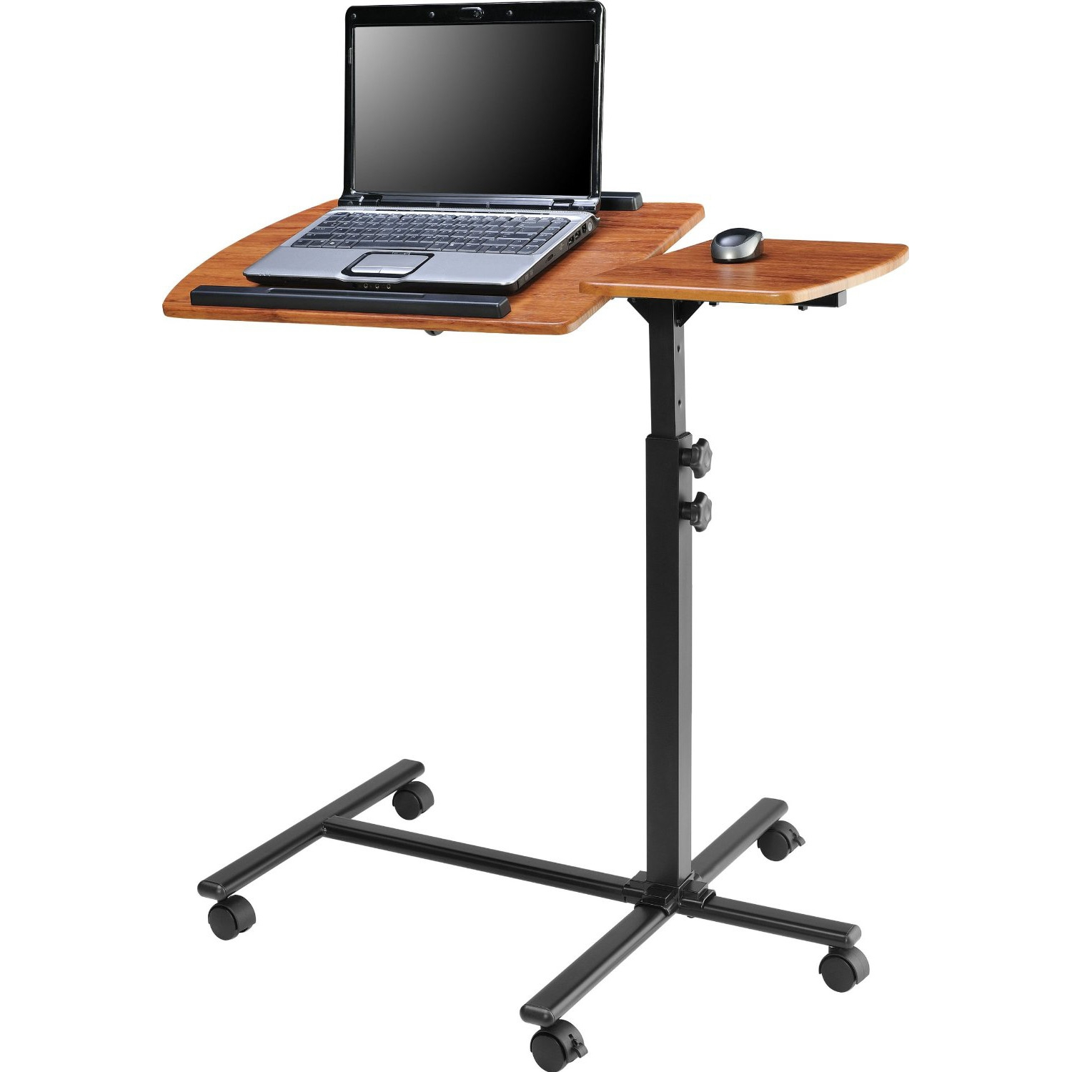 Adjustable Height Laptop Computer Standing Desk Cart with Wheels