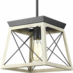 Graphite Dimmable Light Lantern Geometric Chandelier