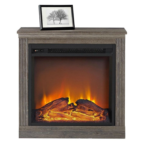 Ventless Electric Fireplace in Espresso Wood Finish